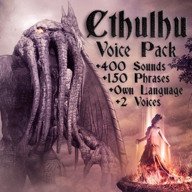 Cthulhu creature game voice pack