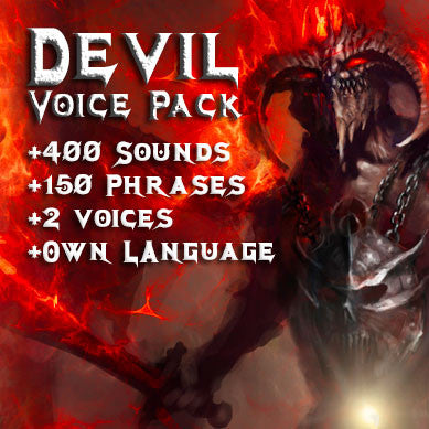 Devil Demon Boss game voice pack