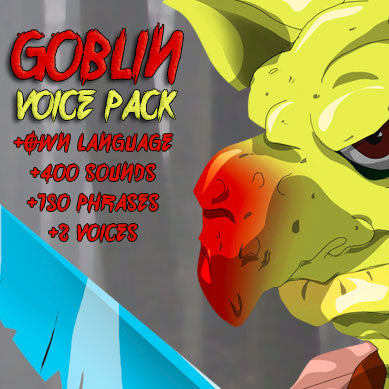Goblin creature game voice pack
