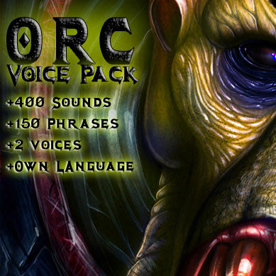 Orc fantasy game voice pack