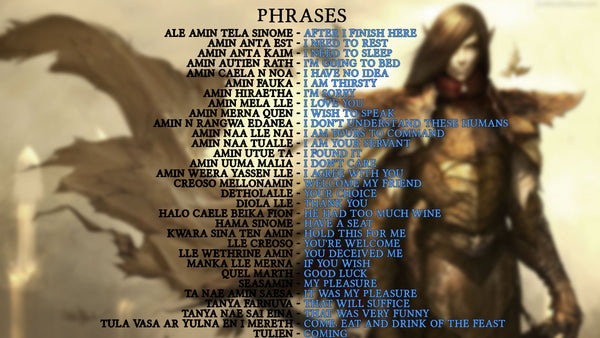 Elven language phrases