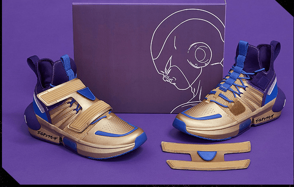"ANTA Basketball Anta x Dragon Ball Super ""Golden Frieza"" Men's Basketball Culture Shoes"