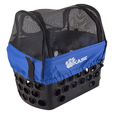 BIKASE Dairyman Rear Basket with Pet Cover Kit for Electric Bicycles