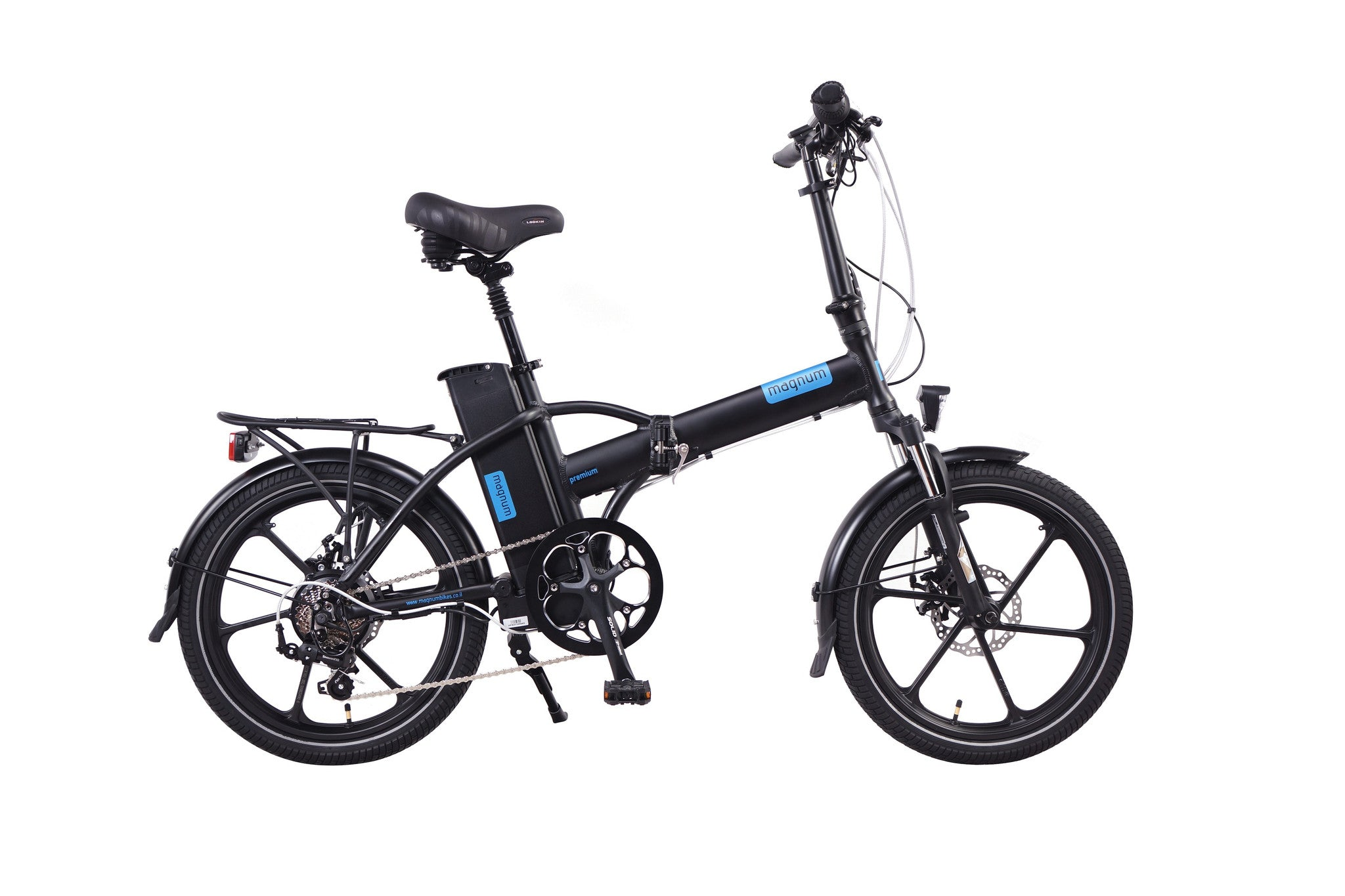 MAGNUM Premium 48 High Step Folding Electric Bicycle Black 2017