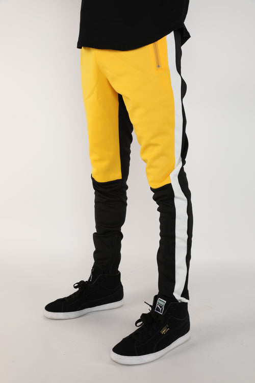 The Block Track Pants in Yellow