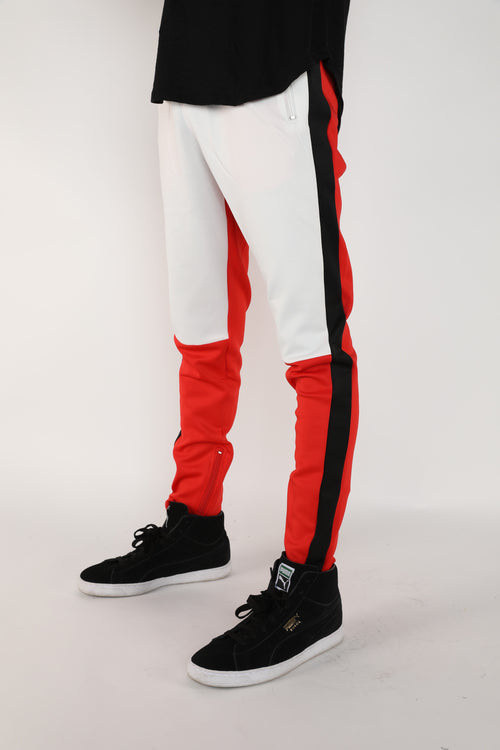 The Block Track Pants in Red