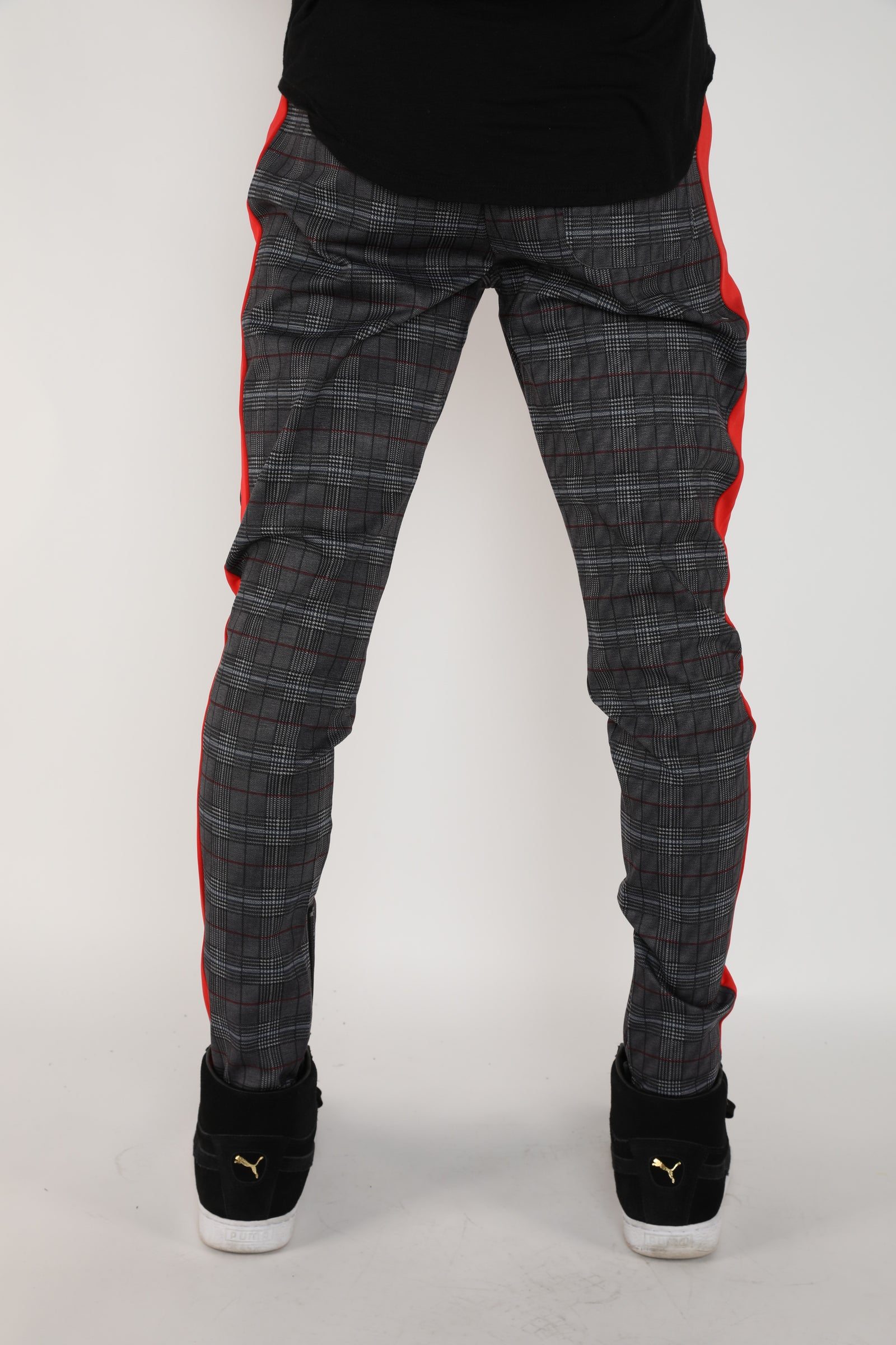 The Crew Track Pants in Red Plaid
