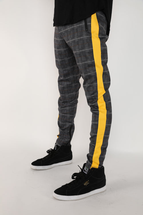 The Crew Track Pants in Yellow Plaid