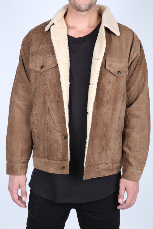 The Cole Wool Lined Corduroy Jacket in Whiskey