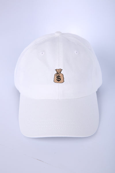 c92308eb72f95 The Bag Dad Hat in White – Threadhitter