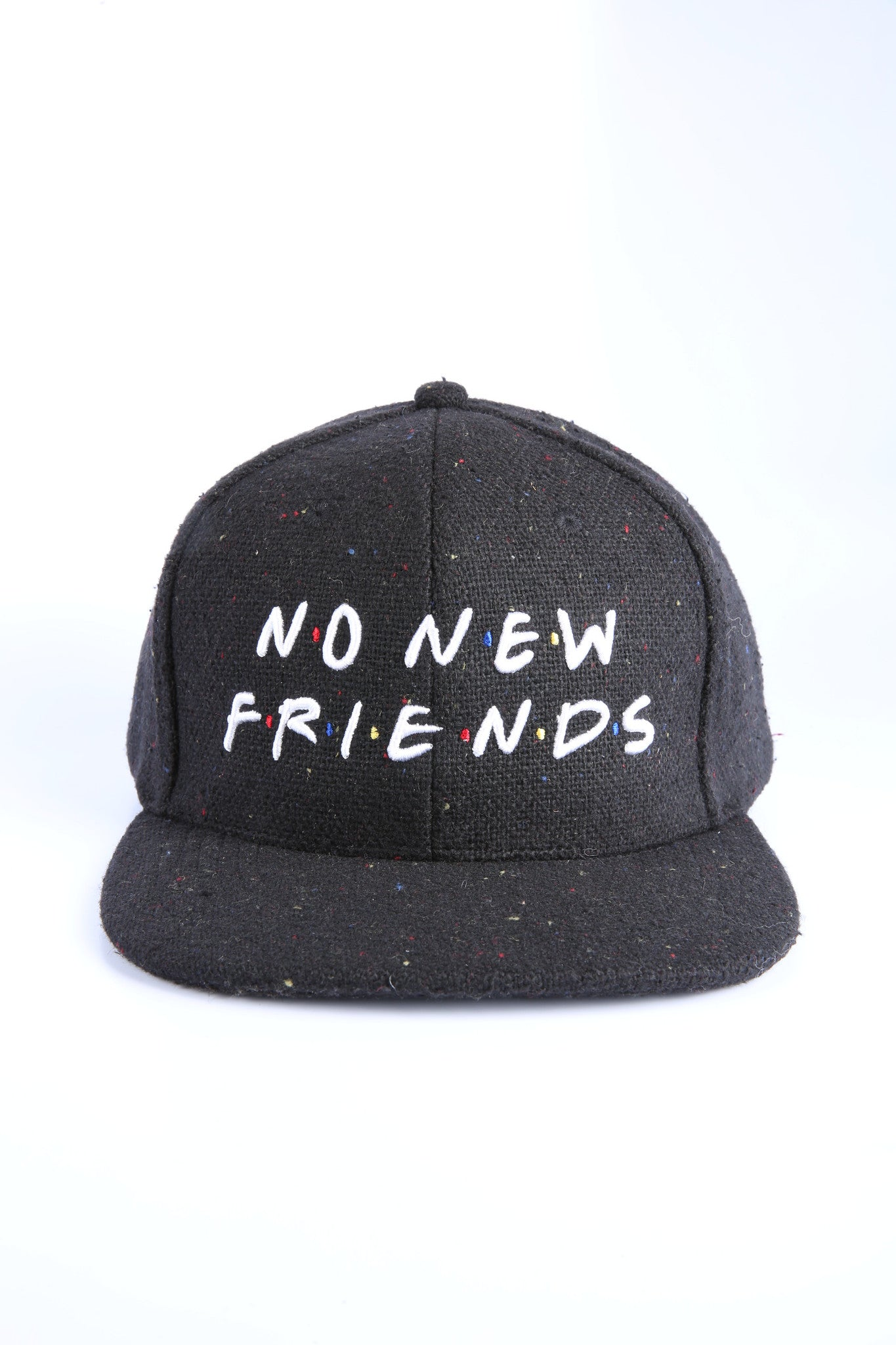 The Friends Snapback in Black Speckle