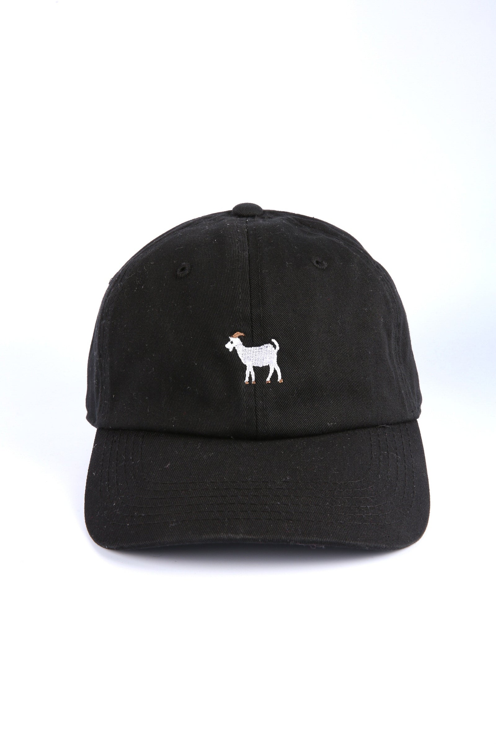 41e8567fdba48 The Goat Dad Hat in Black – Threadhitter