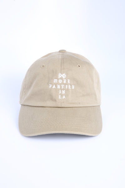 The More Parties Dad Hat in Tan