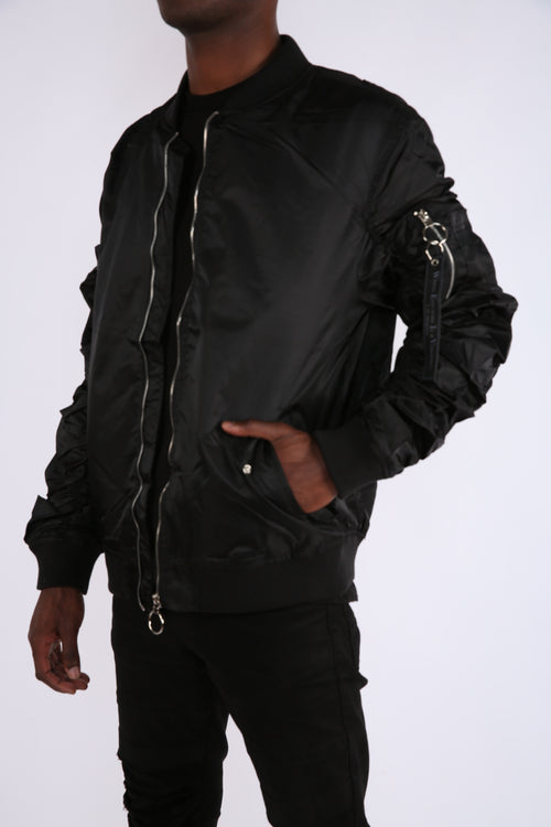 The Alpha Bomber Jacket in Black