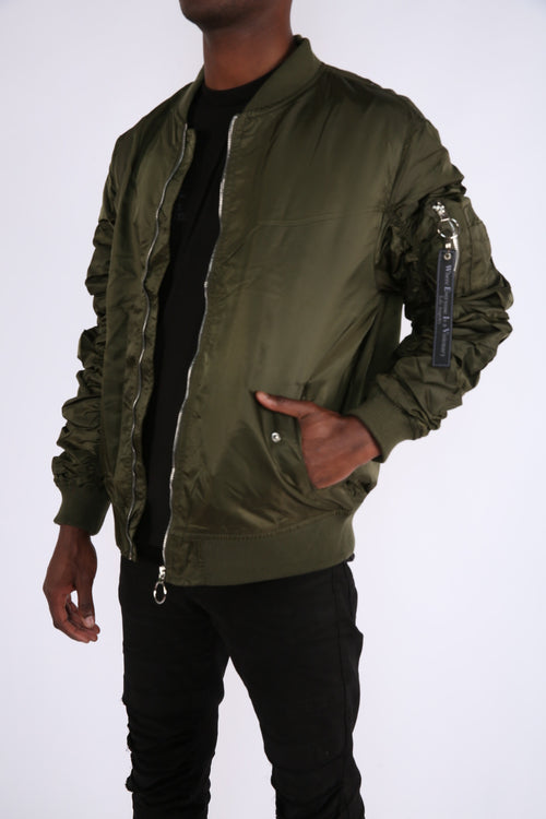 The Alpha Bomber Jacket in Olive