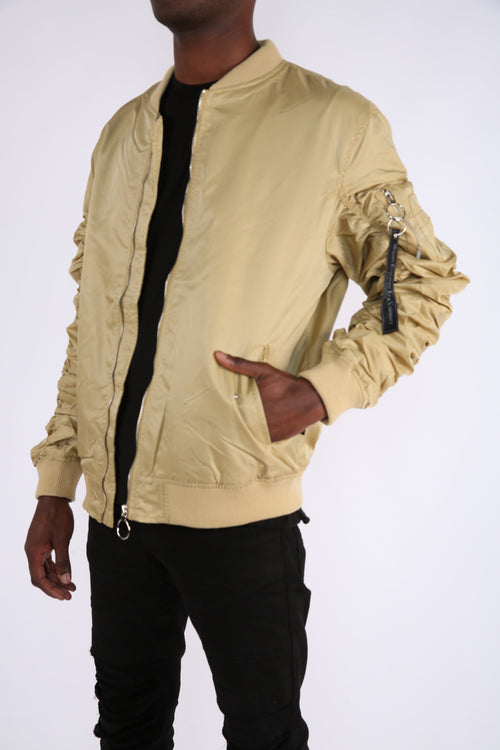 The Alpha Bomber Jacket in Tan