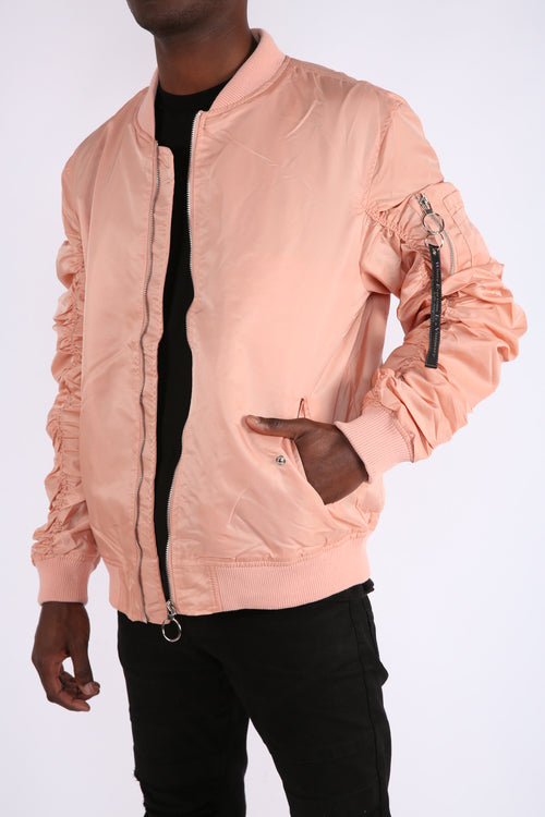 The Alpha Bomber Jacket in Pink