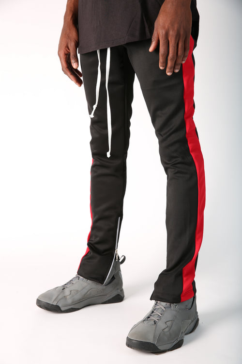 The Jenner Track Pant in Black & Red