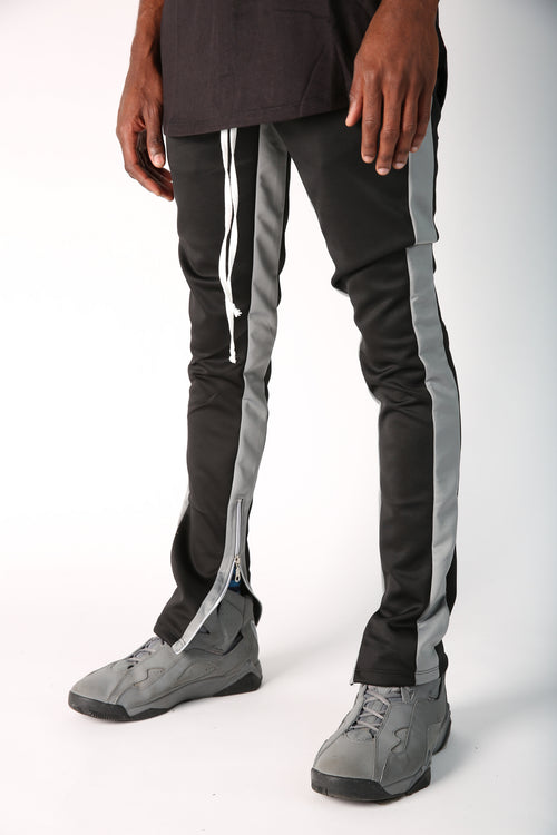 The Jenner Track Pant in Black & Grey