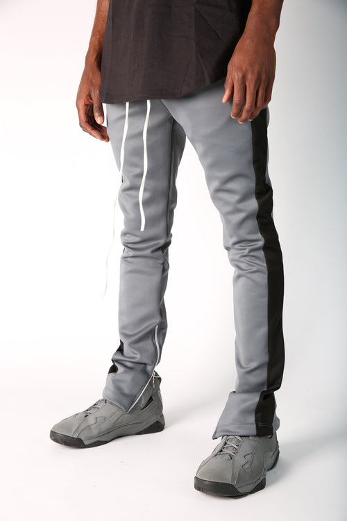 The Jenner Track Pant in Grey & Black