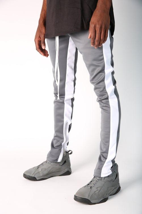 The Jenner Track Pant in Grey & White