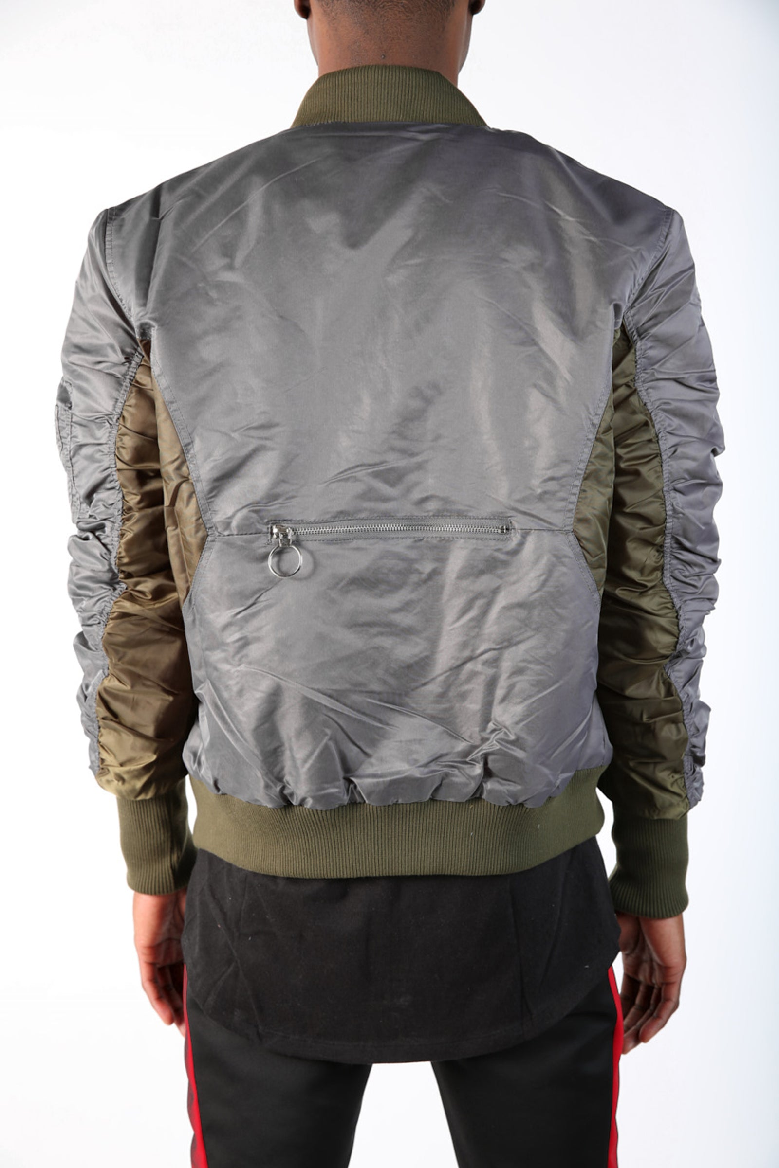 The Maverick 2Tone Bomber in Grey