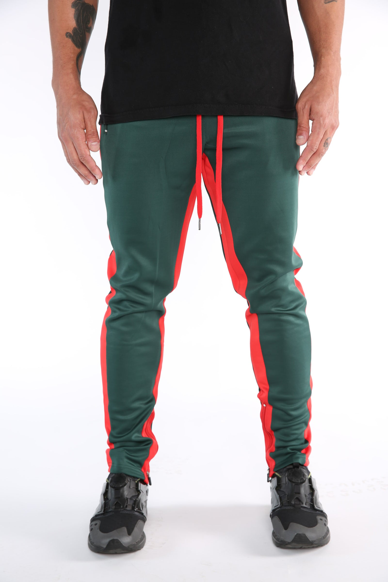 The Mercy Track Pants in Olive