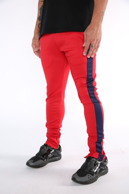 The Core Track Pant in Red