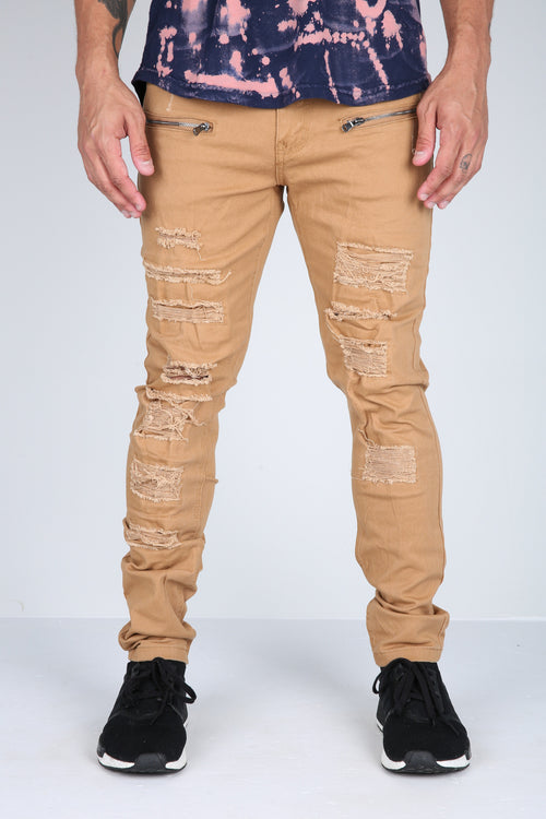The Conners Moto Pants in Camel