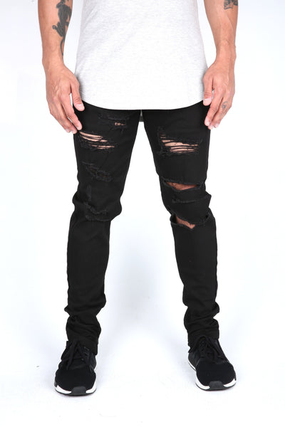 The Markers Destroyed Denim in Black