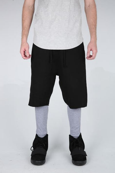 The Jedidiah Dropcrotch Shorts in Black