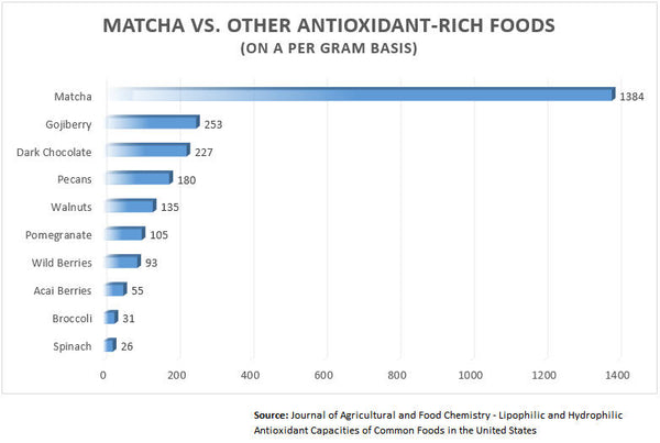 Antioxidants in Matcha vs Other Foods