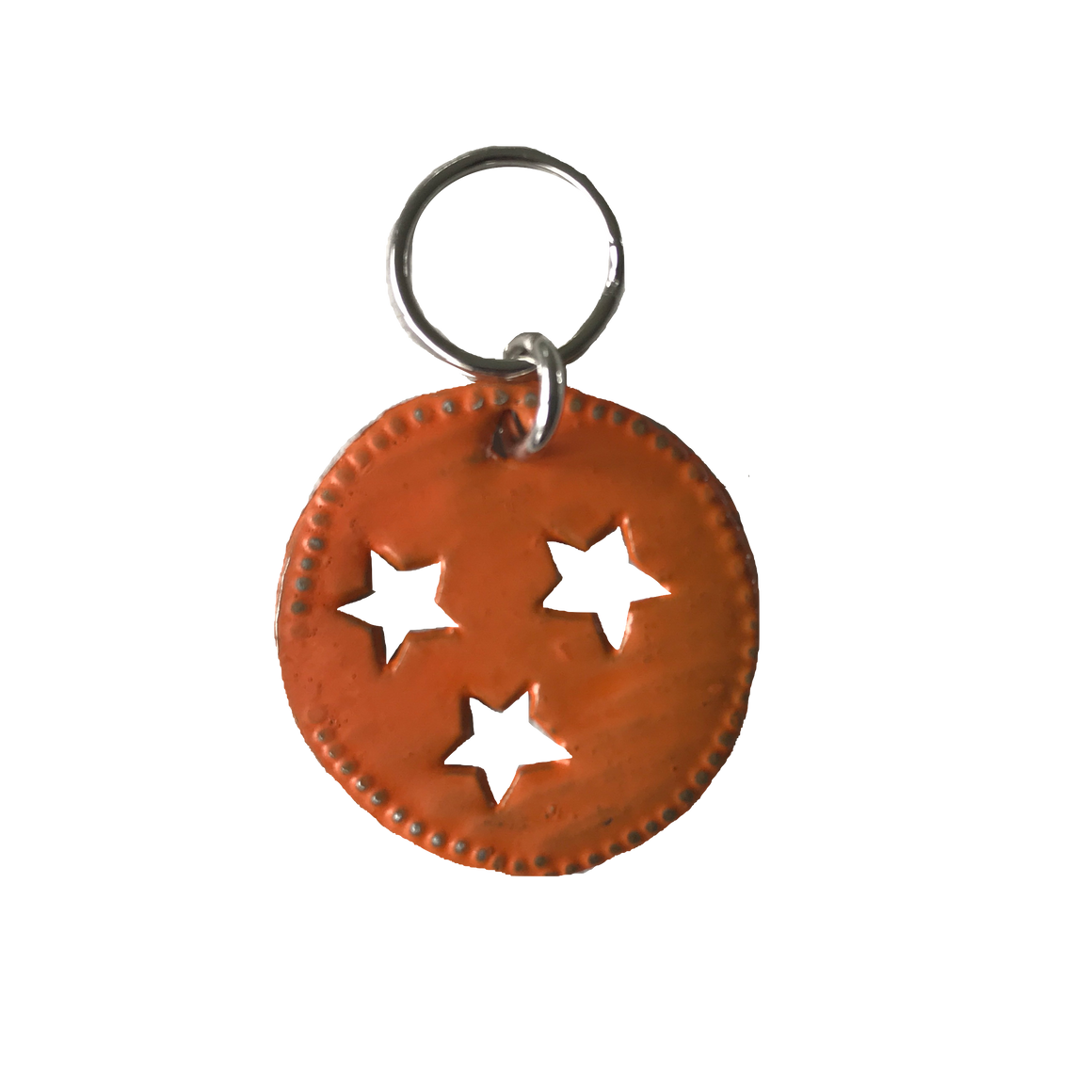 Tri-Star Zipper Pull: Orange