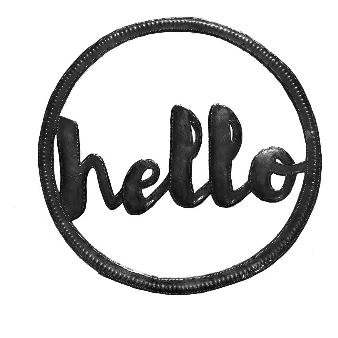 Door Wreath: Hello