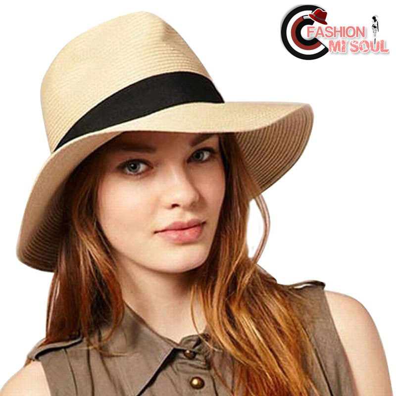 Summer Beach Brim Panama Straw Ladies Sombrero Hats