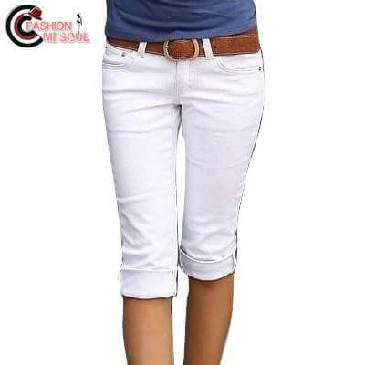 Fashion Slim Elastic Cotton Candy Women Capris