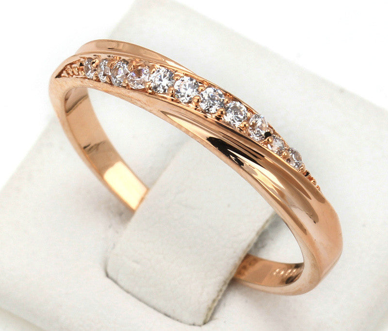 Chic Classical Cubic Gold Plated Rhinestones Ring