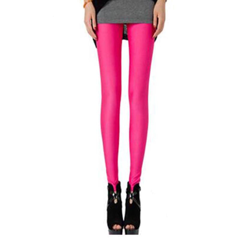 Sexy Solid Candy Neon High Stretched Women's Leggings