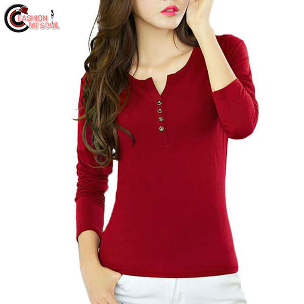 Trendy Women Cotton Long Sleeve Tops