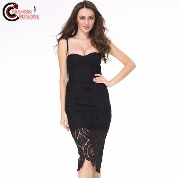 2017 Sexy Women Runway Bodycon Bandage Celebrity Evening Party Dress