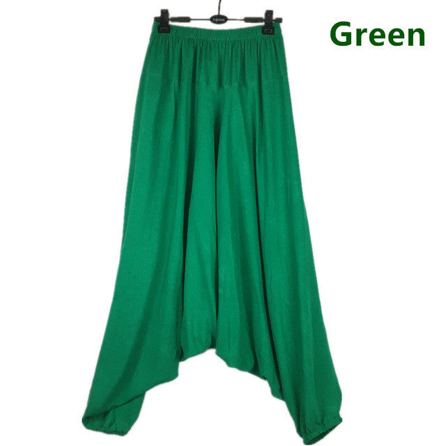 fashion Cotton bloomers large crotch pants ,loose plus size M-5XL trousers, wide leg pants,13 color causal pants