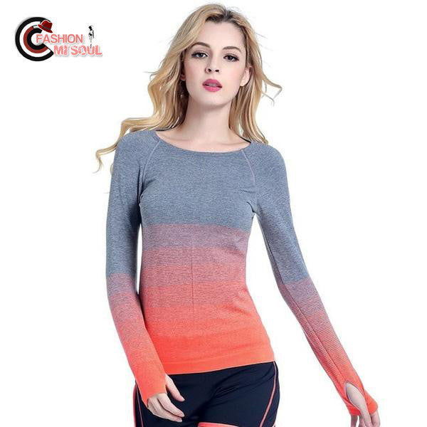 2017 Breathable Compression Long Sleeve Undershirt Women Tees Tops