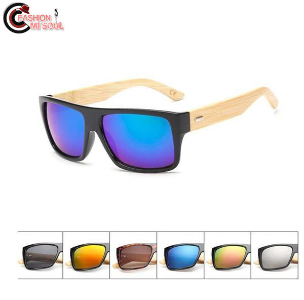 Stylish Bamboo Foot Wooden Men and Women Mirror Sunglasses