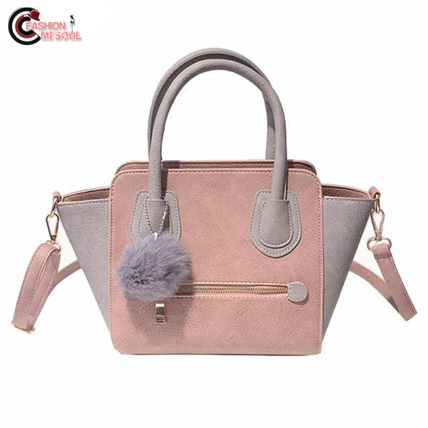 Chic Smiley Leather Women Handbags