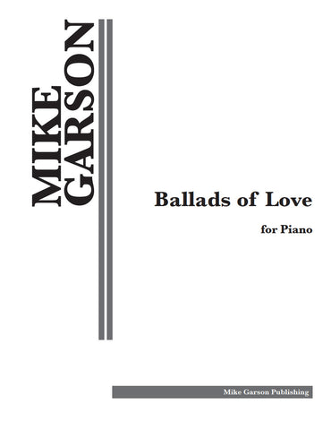 """Ballads of Love"" Sheet Music for Piano - Digital Download"