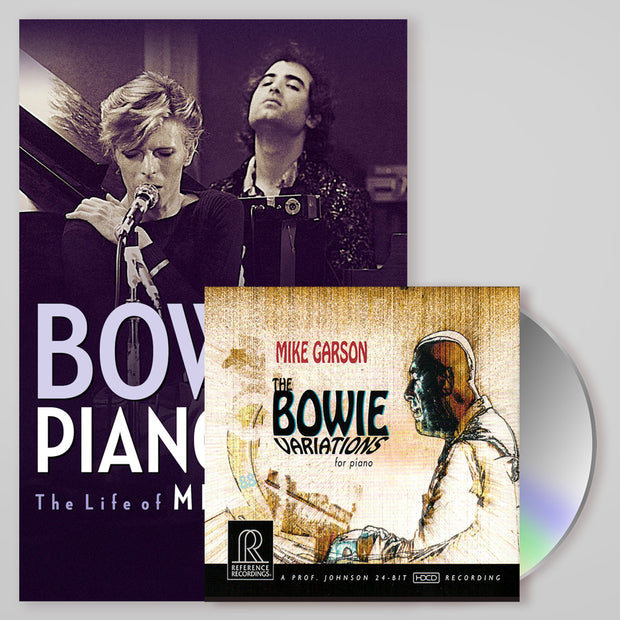 Bowie Signed Collector's Set: Bowie's Piano Man Biography & Bowie Variations CD