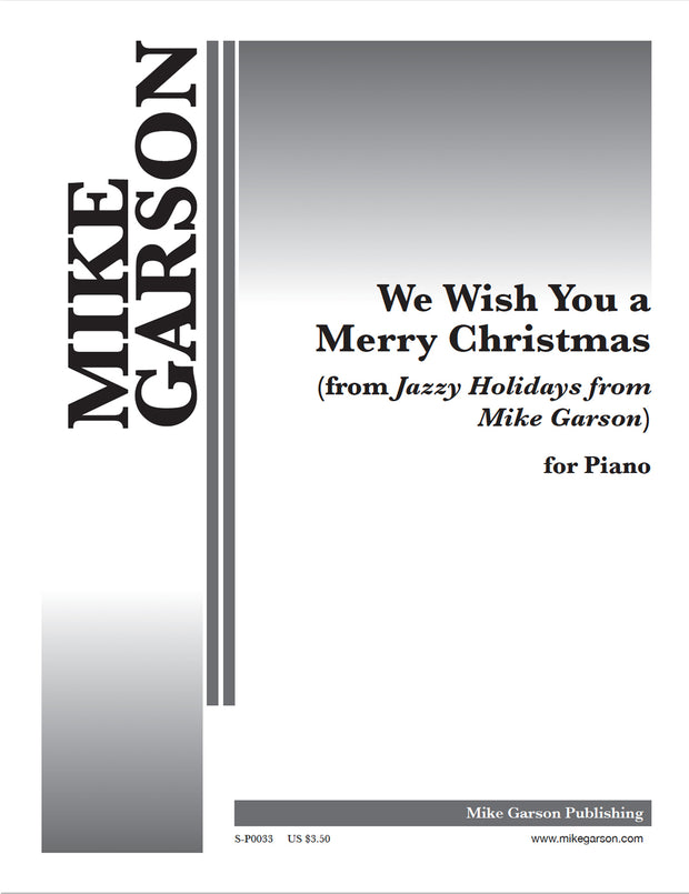 Jazzy Holidays - We Wish You A Merry Christmas - Sheet Music for Piano (Digital Download)