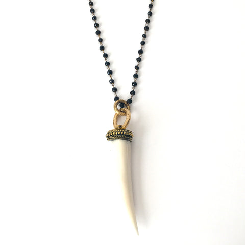 Natural Bone Tiger Claw Necklace