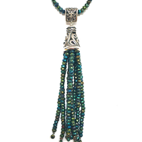 Gem Tassel Necklace