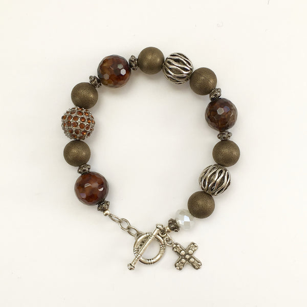 Brazilian Agate and Silver Bracelet